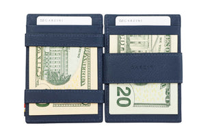 Magic Coin Wallet Garzini Essenziale Nappa - Navy Blue - 6
