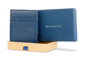 Magic Coin Wallet Garzini Essenziale Nappa - Navy Blue - 7