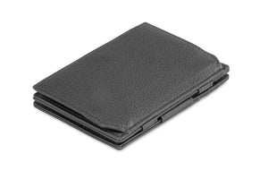 Magic Coin Wallet Garzini Essenziale Nappa - Raven Black - 1