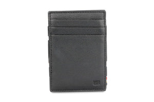 Magic Coin Wallet Garzini Essenziale Nappa - Raven Black - 2