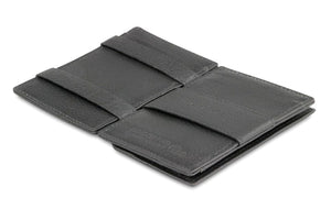 Magic Coin Wallet Garzini Essenziale Nappa - Raven Black - 3