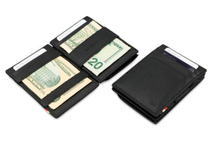 Magic Coin Wallet Garzini Essenziale Nappa - Raven Black - 4