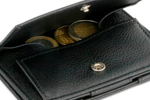 Magic Coin Wallet Garzini Essenziale Nappa - Raven Black - 5