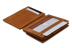 Magic Coin Wallet Garzini Magistrale - Camel Brown - 4
