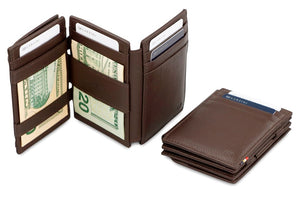 Magistrale Magic Coin Wallet Nappa - Chocolate Brown - 6
