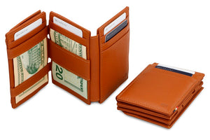 Magistrale Magic Coin Wallet Nappa - Cognac Brown - 6