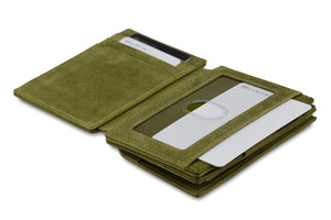 Magic Coin Wallet Garzini Magistrale - Olive Green - 4