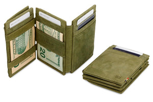 Magic Coin Wallet Garzini Magistrale - Olive Green - 7