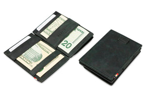 Cavare Magic Coin Wallet Card Sleeve Brushed - Brushed Black - 4