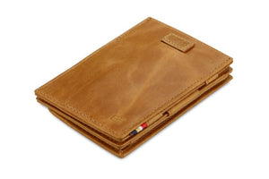 Cavare Magic Coin Wallet Card Sleeve Brushed - Brushed Cognac - 1