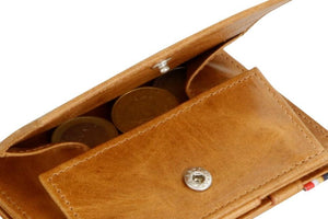Cavare Magic Coin Wallet Card Sleeve Brushed - Brushed Cognac - 5