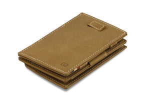 Cavare Magic Coin Wallet Card Sleeve Vintage - Camel Brown - 1