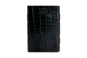 Cavare Magic Coin Wallet Card Sleeve Croco - Croco Black - 2