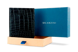 Cavare Magic Coin Wallet Card Sleeve Croco - Croco Black - 7