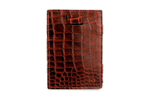 Cavare Magic Coin Wallet Card Sleeve Croco - Croco Brown - 2