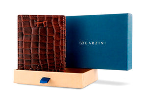 Cavare Magic Coin Wallet Card Sleeve Croco - Croco Brown - 7