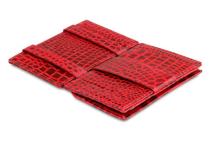 Cavare Magic Coin Wallet Card Sleeve Croco - Croco Burgundy - 3