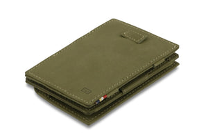 Cavare Magic Coin Wallet Card Sleeve Vintage - Olive Green - 1