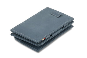 Cavare Magic Coin Wallet Card Sleeve Vintage - Sapphire Blue - 1