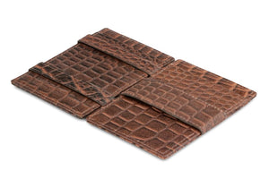 Essenziale Magic Wallet Croco - Croco Brown - 3
