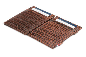 Essenziale Magic Wallet Croco - Croco Brown - 4