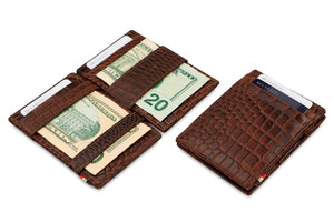 Essenziale Magic Wallet Croco - Croco Brown - 5