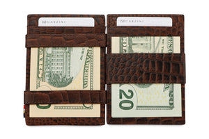 Essenziale Magic Wallet Croco - Croco Brown - 6