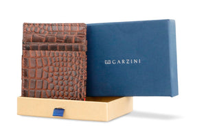 Essenziale Magic Wallet Croco - Croco Brown - 7