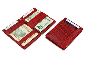 Essenziale Magic Wallet Croco - Croco Burgundy - 5