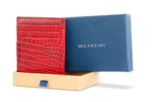 Essenziale Magic Wallet Croco - Croco Burgundy - 7