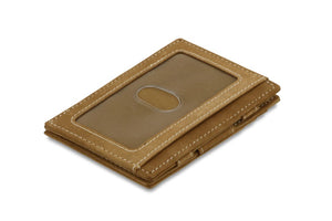 Magic Wallet Garzini Essenziale ID Window - Camel Brown - 1