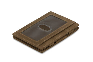 Magic Wallet Garzini Essenziale ID Window - Java Brown - 1