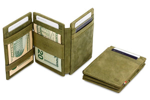 Magic Wallet Garzini Magistrale - Olive Green - 5