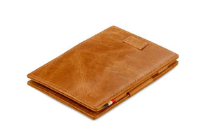 Cavare Magic Wallet Card Sleeves Brushed - Brushed Cognac - 1