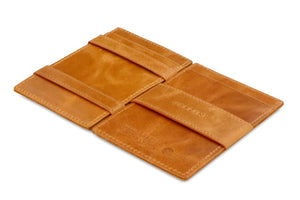 Cavare Magic Wallet Card Sleeves Brushed - Brushed Cognac - 3