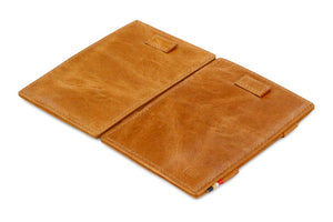 Cavare Magic Wallet Card Sleeves Brushed - Brushed Cognac - 4