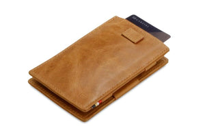Cavare Magic Wallet Card Sleeves Brushed - Brushed Cognac - 7