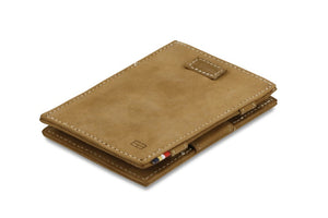 Cavare Magic Wallet Card Sleeves Vintage - Camel Brown - 1