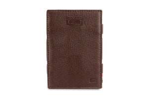 Cavare Magic Wallet Card Sleeves Nappa - Chocolate Brown - 2