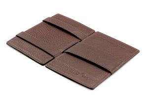 Cavare Magic Wallet Card Sleeves Nappa - Chocolate Brown - 3