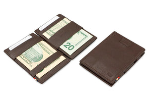 Cavare Magic Wallet Card Sleeves Nappa - Chocolate Brown - 5