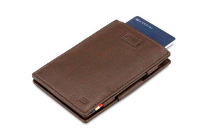 Cavare Magic Wallet Card Sleeves Nappa - Chocolate Brown - 7