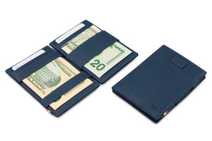 Cavare Magic Wallet Card Sleeves Nappa - Navy Blue - 5