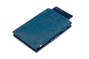 Cavare Magic Wallet Card Sleeves Nappa - Navy Blue - 7