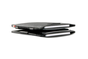 Cavare Magic Wallet Card Sleeves Nappa - Raven Black - 6