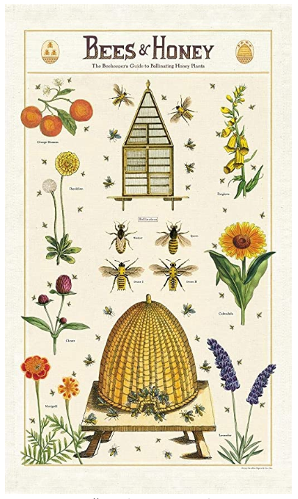Tea Towel - Bees and Honey