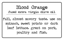 Blood Orange Fused Extra Virgin Olive Oil