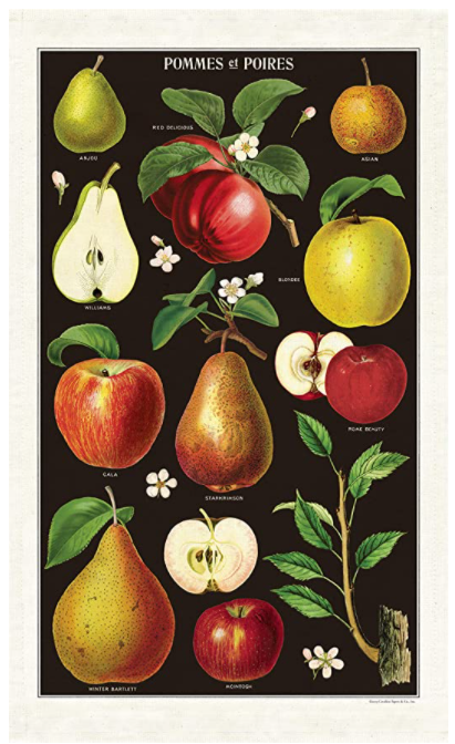 Tea Towel - Apples and Pears
