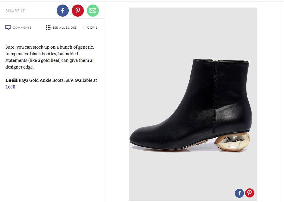 Raya Ankle Boots Featured In Refinery29