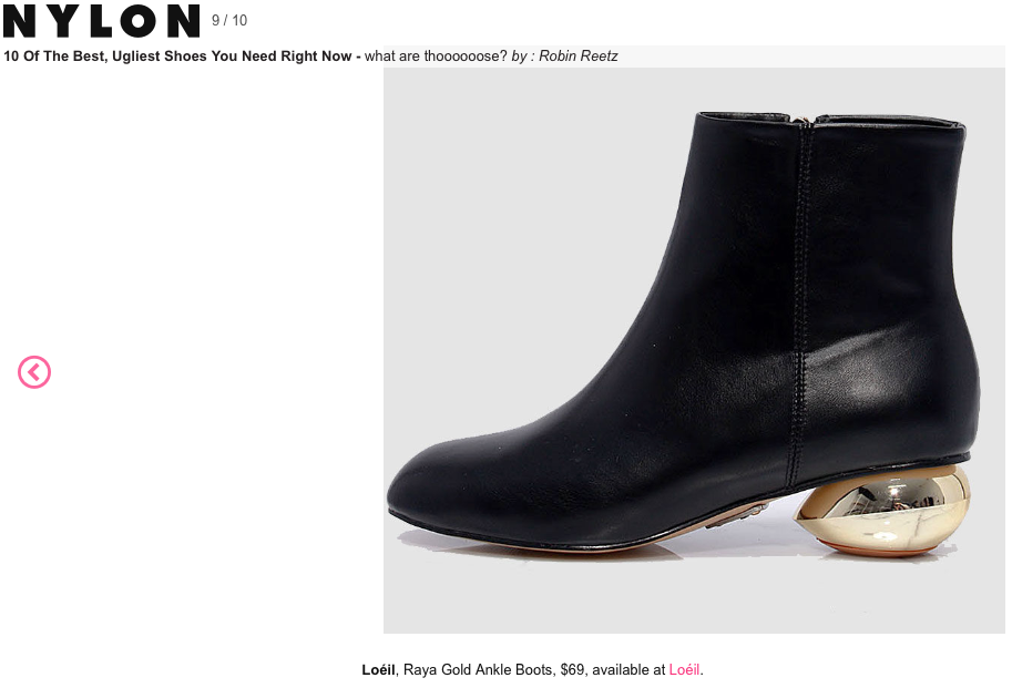 nylon magazine online shop features unique and cool black gold Loéil ankle boots